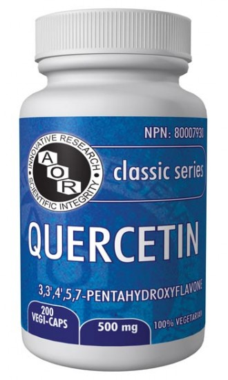 AOR, Quercetin 500 mg, 100 Vegetable Capsules