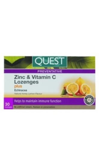Quest Zinc & Vitamin C , 30 Lozenges