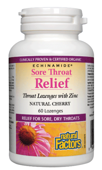 ECHINAMIDE® Sore Throat Relief, 60 throat/zinc lozenges