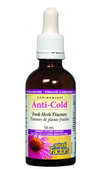 Natural Factors Anti -cold 50 ml Echinacea 1.7 fl. oz. Tincture