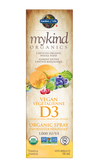 Garden of Life MyKind Organics Vegan D3 Spray, 58 ml