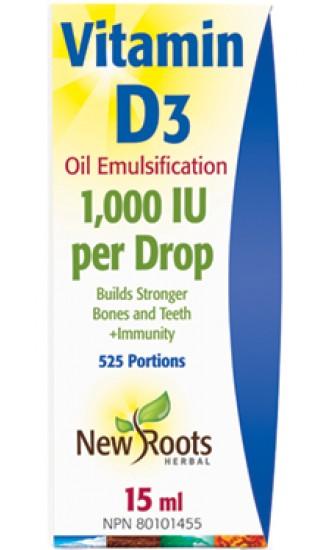 New Roots Vitamin D3 liquid, 15 ml